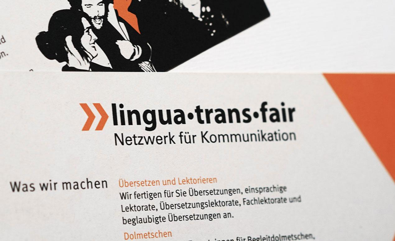 Logo lingua•trans•fair